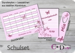 coole Schule Design Schmetterling rosa